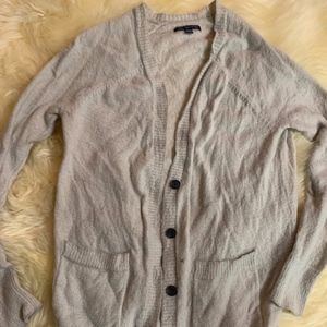 American Eagle Grey Cardigan Size Small